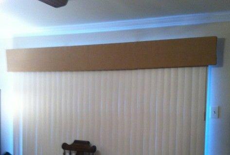 DIY Valance for vertical blinds | Diy blinds, House blinds .