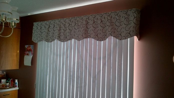 Fabric Valance For Vertical Blinds - Curtains & Blinds Ideas .