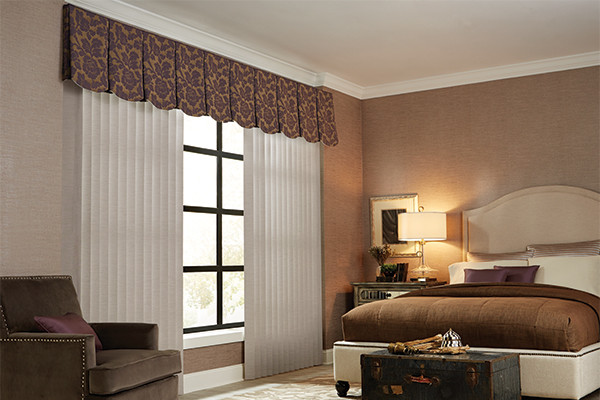 VERTICAL BLINDS - CLOTH FABRIC VALANCE - Graber Bedroom Ideas .