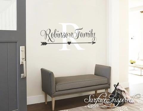 Wall Decals Quote - Personalized Family Name Wall Decal Name .