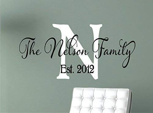 Amazon.com: Family Wall Decals - Personalized Name Wall Decal .