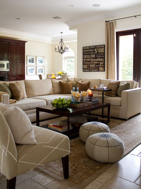 22 Comfortable Family Room Design Ideas | Beige living rooms .