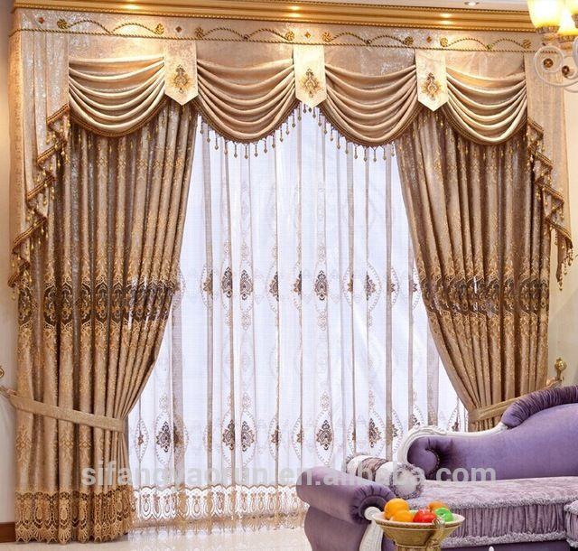 Look what I found Via Alibaba.com App: - luxury curtain design .