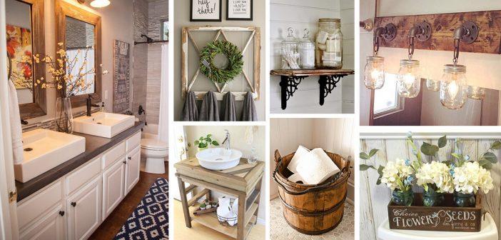 36 Best Farmhouse Bathroom Design and Decor Ideas for 20