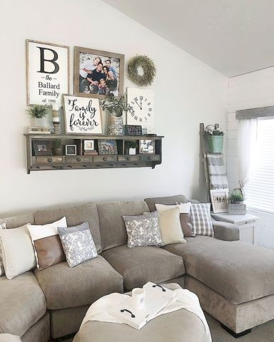 75 Best Farmhouse Wall Decor Ideas for Living Room - Ideab