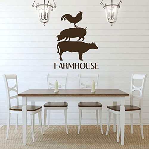 Amazon.com: Farmhouse Wall Decor – 'FARMHOUSE' Vinyl Lettering and .