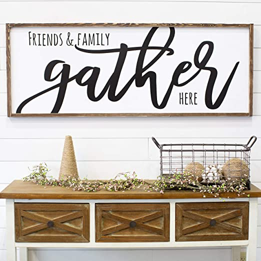 Amazon.com: CELYCASY for Her Gather Sign Living Room Wall Decor .
