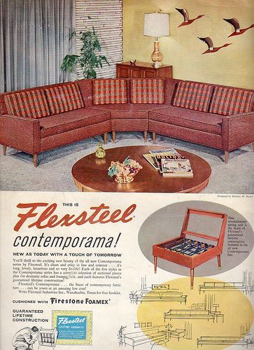 Flexsteel Furniture Ad 1958 in 2020 | Furniture ads, Mid century .