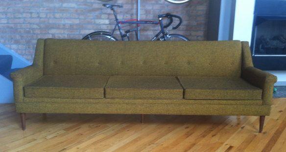 Vintage Mid Century Flexsteel Sofa / Couch Tweed | Sofa, Mid .