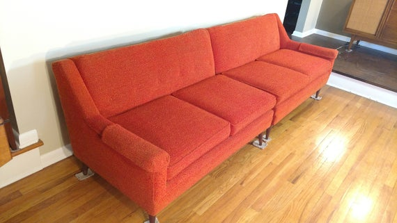 Items similar to Mid Century Flexsteel Two Piece Sectional Sofa on .