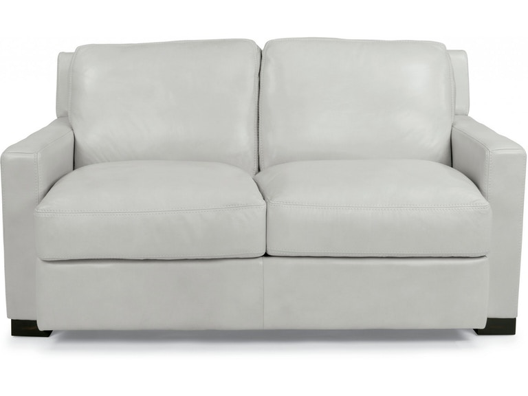 Flexsteel Living Room Leather Loveseat 1369-20 - The Sofa Store .