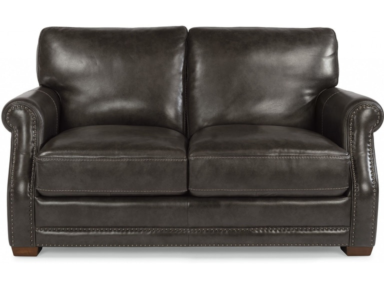 Flexsteel Living Room Leather Loveseat 1365-20 - The Sofa Store .