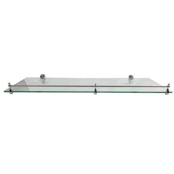 "Shop Miseno MT-WHSSEC0816-RE 16"" Clear Glass Bathroom Shelf ."