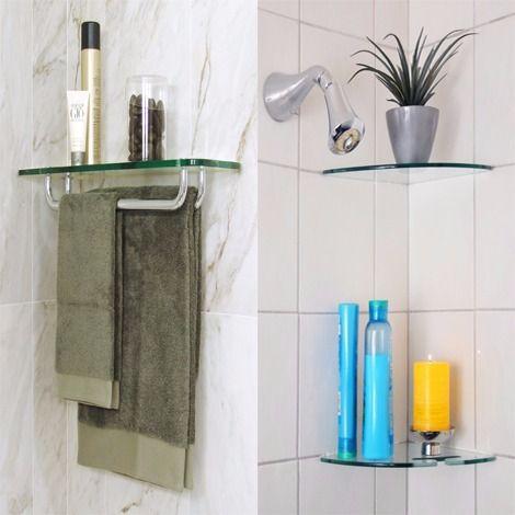 Glass Bathroom Shelves | Floating Shelves for Bathroom Corners .