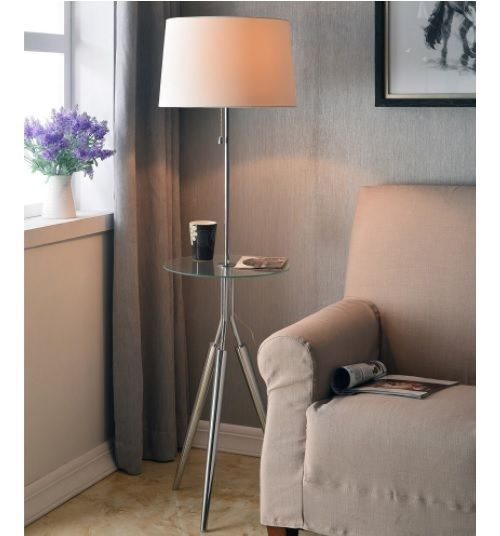 Floor Lamps With Table Attached Side Accent End Small Spaces .
