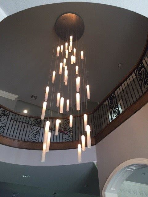 CONTEMPORARY FOYER LIGHTING, MODERN ENTRY CHANDELIER FOR HIGH .