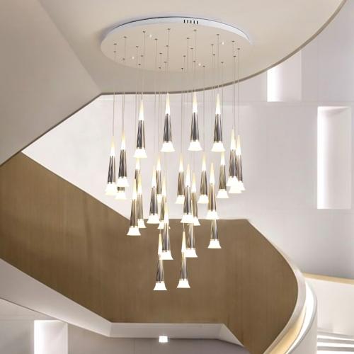 Modern Style Multi-light Starwell LED Hanging Pendant for High .