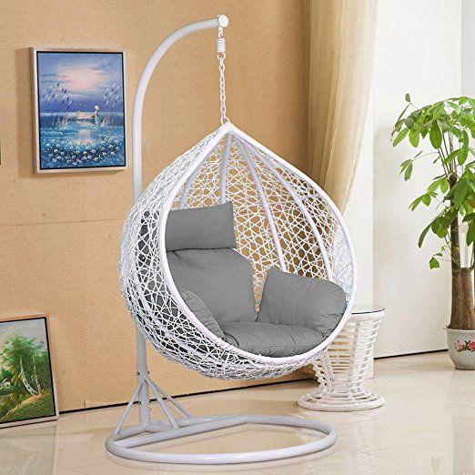 tinkertonk Rattan Swing Chair Patio Garden Wicker Hanging Egg .