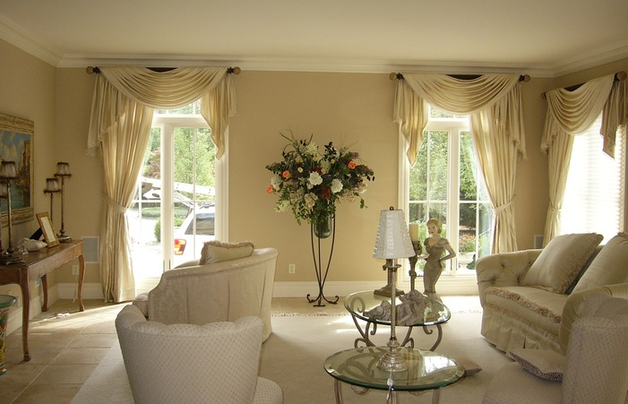 Living Room French Country Window Valances Dining Curtain Layout .