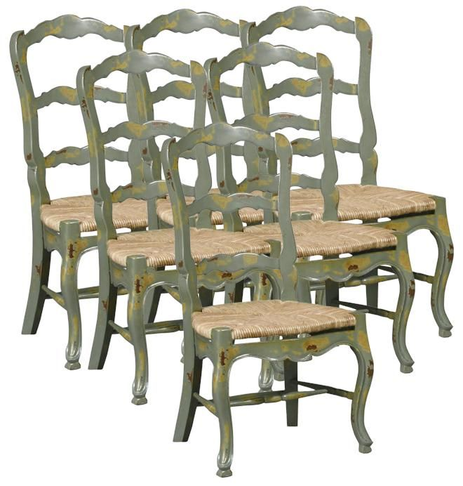 french country ladderback rush chairs | ... French Country Dining .