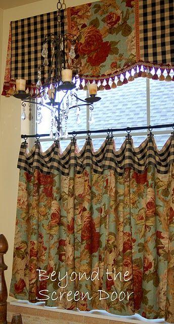 Gallery | Country kitchen curtains, Kitchen window curtains .