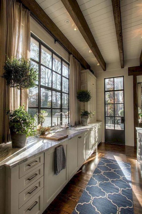 25 Amazing Farmhouse Window Design Ideas | Country style kitchen .