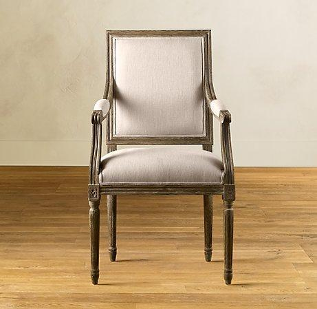 Vintage French Square Armchair - Dining Chair Collection - Furnitu