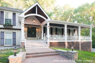 Front Porch Pictures in 2020 | Front porch design, Porch roof .