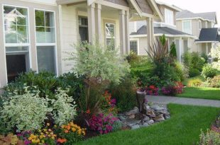 Garden Ideas For The Front Of The House   Large yard landscaping .