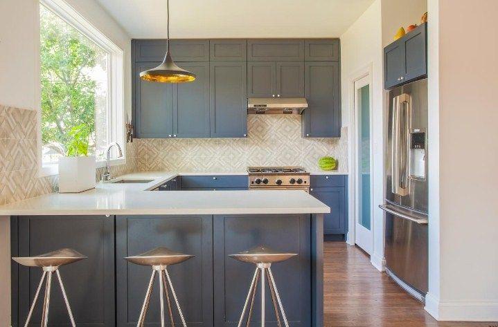 Galley Kitchen Ideas With Breakfast Bar | Galley kitchen design .