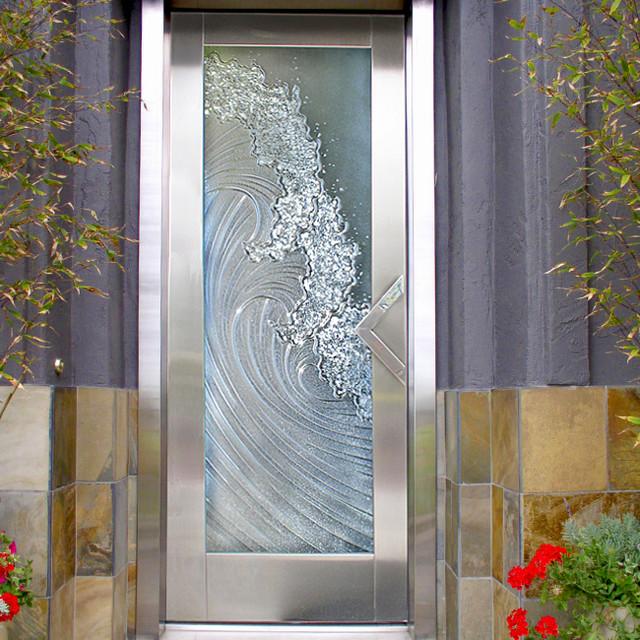 Entry Door - Beach Style - Entry - San Diego - by Cast Glass .