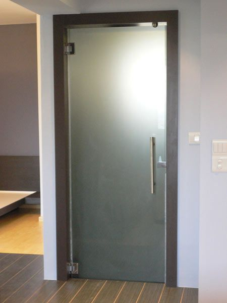 framed frosted glass door...is this kind of what it would look .