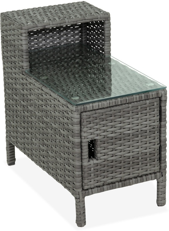 Outdoor/Patio Havana Saddle Grey 28 x 26 in. Outdoor Wicker .