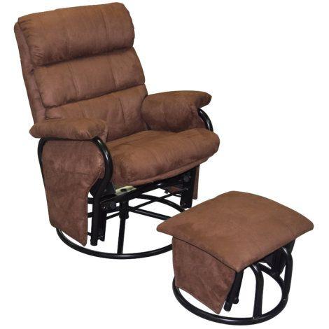Glider Rocker Recliner With Ottoman | Chair | Glider rocker .