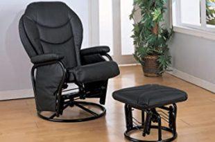 Amazon.com: Coaster Glider W/Ottoman Black: Kitchen & Dini