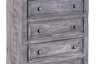 Keystone Rustic Distressed Gray Highboy Dresser - Traditional .