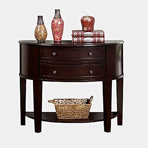 Amazon.com: Wood Console Table with Half Moon Shaped - Console .