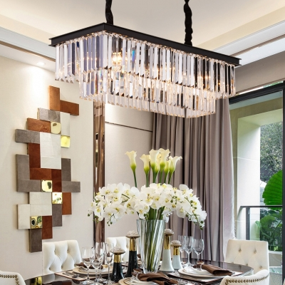 Rectangle Pendant Lighting Dining Room 6/8 Lights Modern Hanging .
