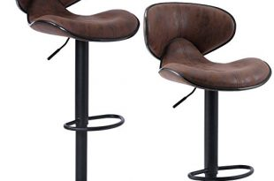Amazon.com: SUPERJARE Set of 2 Adjustable Bar Stools, Swivel .