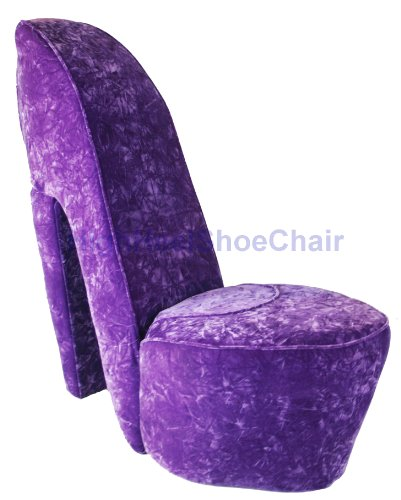 Lavender Purple High Heel Shoe Chair - Donald Sutherland Shoppi