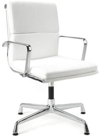 Director Office Chair With No Wheels - White | Office chair .