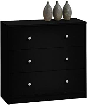 Amazon.com: 3 Drawer Chest Wood Closet Wide Deep Vertically .