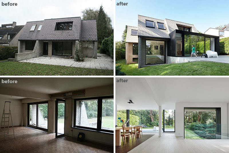 BEFORE and AFTER - The Renovation And Extension Of A Flemish Vil