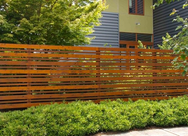 horizontal fence designs | Horizontal Wood Fence Plans in Fence .
