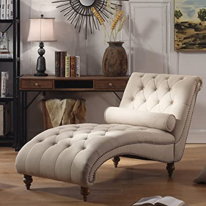 Amazon.com: Luxorious Indoor Chaise Lounge Chair - Contemporary .