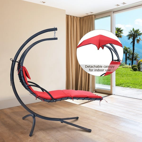 Shop Finether Hanging Chaise Lounge Chair Outdoor Indoor Hammock .