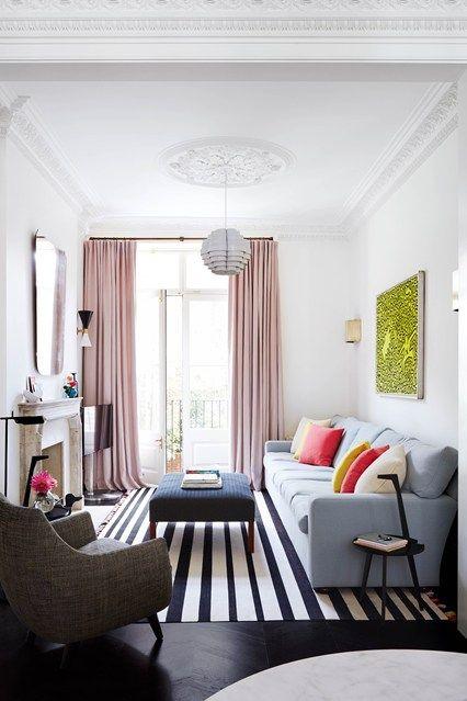 Narrow Living Room Solutions | Small living room design, Small .