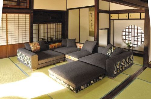 Japanese Couch in 2020 | Asian living rooms, Japanese living rooms .