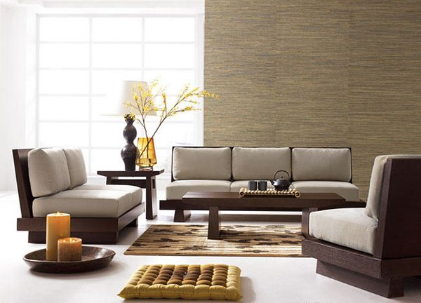 My Dream Home: Minimalist Zen with a Japanese Flavor | Wooden sofa .