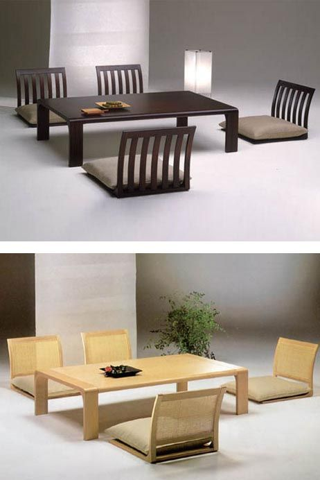 Japanese-style floor dining room tables and chairs | Japanese .